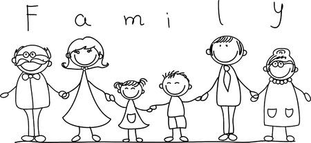 Foto de happy family holding hands and smiling  - Imagen libre de derechos