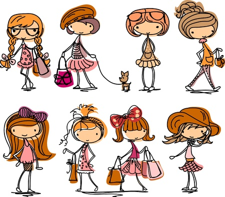 Fashion girl cartoon