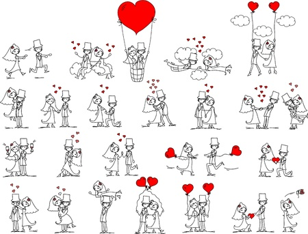 cartoon wedding pictures
