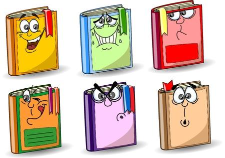 Illustration pour Cartoon school books  - image libre de droit