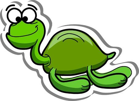 Cute cartoon sea turtle