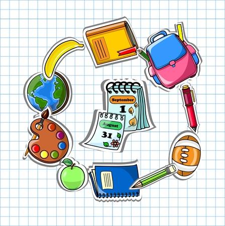 Illustration pour School background, vector drawing  - image libre de droit