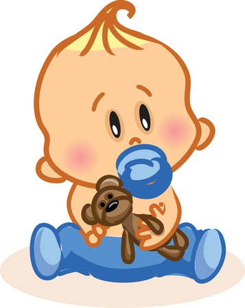Illustration for Vector illustration of baby boy  - Royalty Free Image