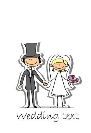 Foto de Cartoon wedding picture  - Imagen libre de derechos