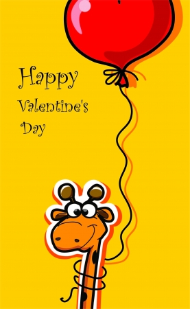 Happy Valentine s day, vector card