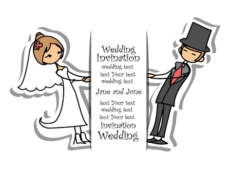Cartoon wedding picture のイラスト素材