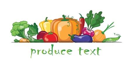 Foto für Cartoon vegetables and fruits  - Lizenzfreies Bild