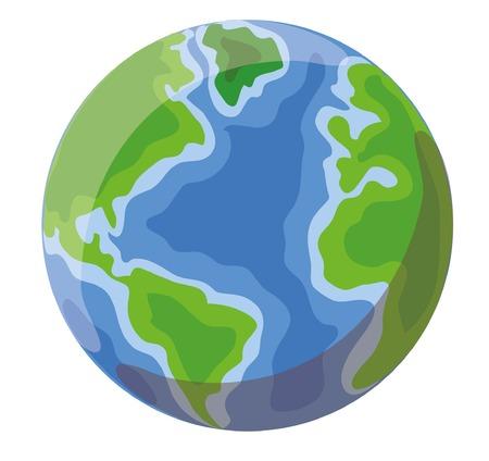 Cartoon globe: Royalty-free vector graphics
