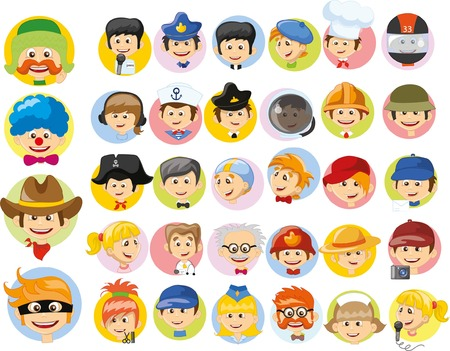 Cartoon vector characters of different professions: Royalty-free