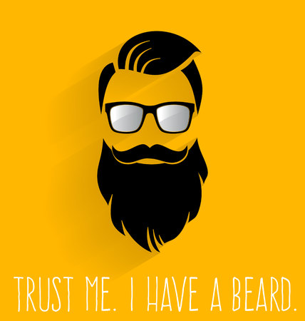 Illustration for Hipster. I Have A Beard. - Royalty Free Image