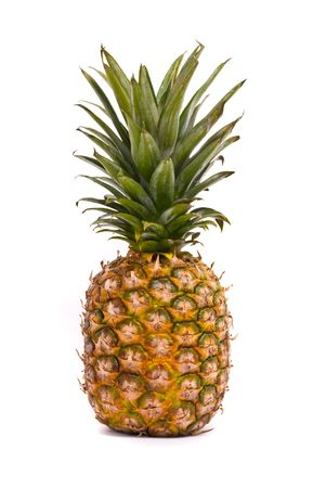 A whole pineapple isolated on a white background