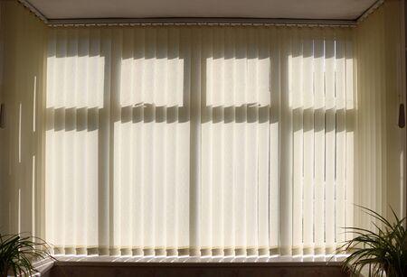 Photo pour Closed vertical venetian window blinds - image libre de droit