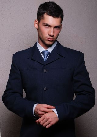 Male model in suit