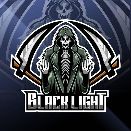 Illustration pour Skull reaper  mascot design - image libre de droit