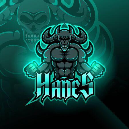 Illustration pour Hades esport mascot logo design - image libre de droit