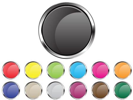 Vector button circles