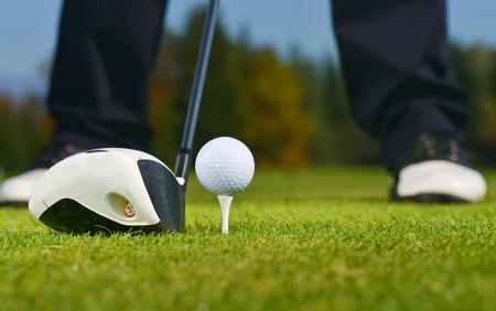 Golf Ball, Golfer and Club
