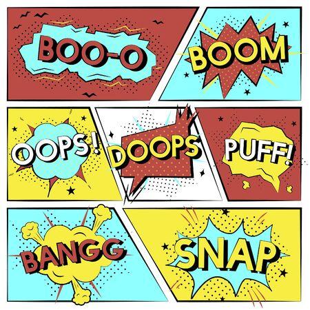 Ilustración de Collection of explosion vectors - Imagen libre de derechos