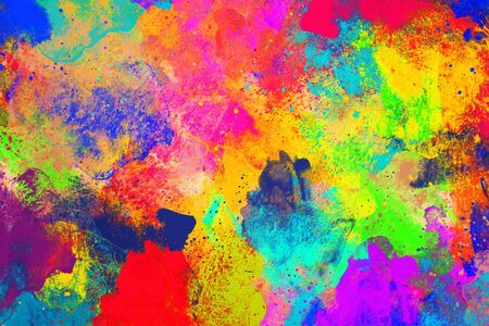 Photo pour rainbow watercolor abstract the textured pattern abstract style with gradient background - image libre de droit