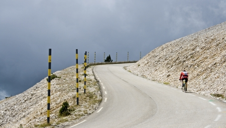 Bad weather on Mont Ventoux. Provence. France.