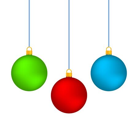 Illustration pour Realistic Christmas set balls vector icons isolated on the white background - image libre de droit