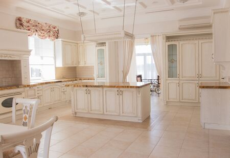Photo for beautiful interior of the kitchen area - Royalty Free Image