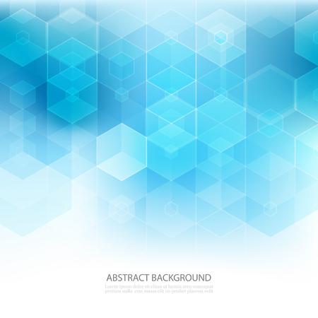 Illustration pour Abstract geometric background. Template brochure design. Blue hexagon shape - image libre de droit