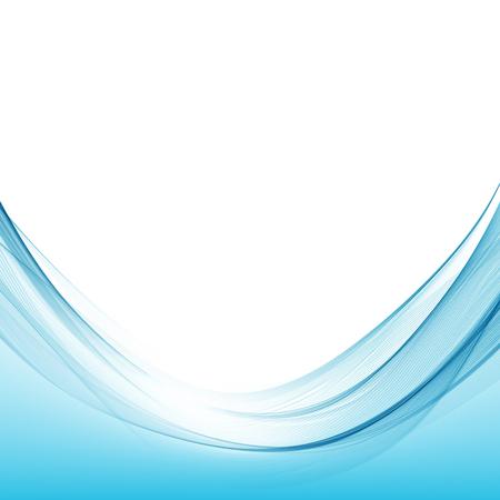 Illustration pour Blue wave curve abstract background vector illustration - image libre de droit