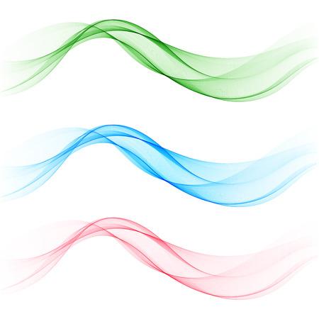 Illustration pour Set colored waves. Brochure template, design element - image libre de droit