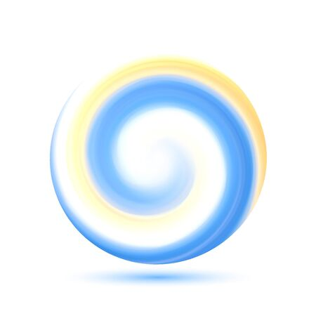 Illustration pour Abstract transparent colorful swirl circle. Round frame or banner with place for your content.Vector illustration with gradient mesh. - image libre de droit