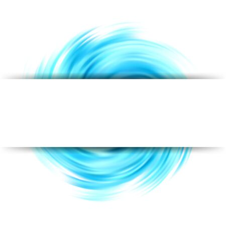 Illustration pour Colorful abstract swirl background Colorful wave shaped circle White banner - image libre de droit
