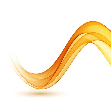 Illustration for Abstract smoky waves background. Template brochure design - Royalty Free Image