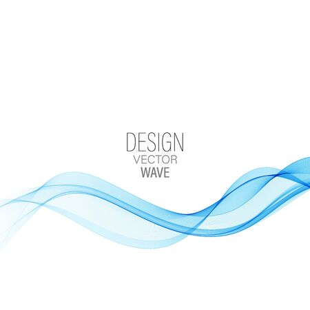 Illustration for Blue abstract wave.Abstract vector background wave - Royalty Free Image