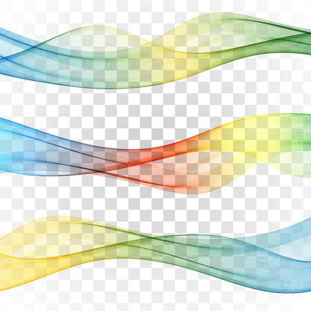 Illustration pour Set of abstract banners colored waves Set wave - image libre de droit