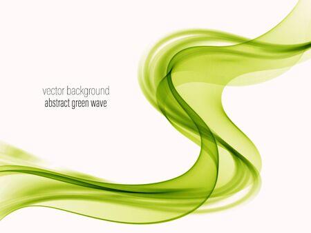 Ilustración de Smooth green wave abstract background - Imagen libre de derechos