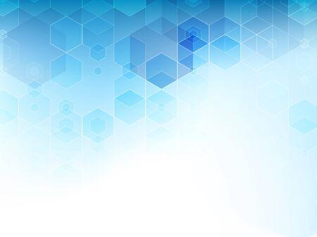 Illustration pour Abstract blue cubes vector background. - image libre de droit