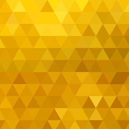 Illustration for Gold vector pattern Abstract geometric background Triangle. mosaic - Royalty Free Image