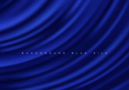 Illustration pour Abstract background luxury blue cloth or liquid wave Texture silk Iuxurious background or elegant wallpaper - image libre de droit
