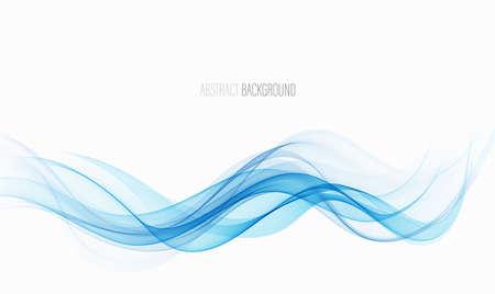 Illustration pour Abstract blue wave vector background Blue wave flow - image libre de droit