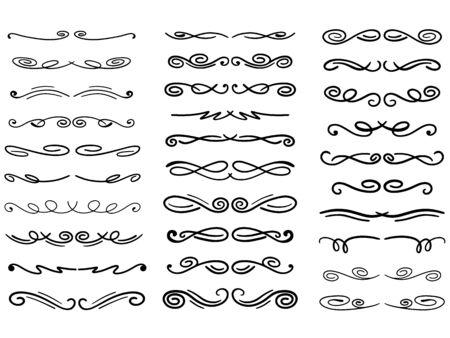 Illustration pour Set of vector decorative dividers - image libre de droit