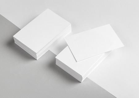 Photo pour Photo of business card & part of the Letterhead. Mock-up for branding identity. For graphic designers presentations and portfolios - image libre de droit