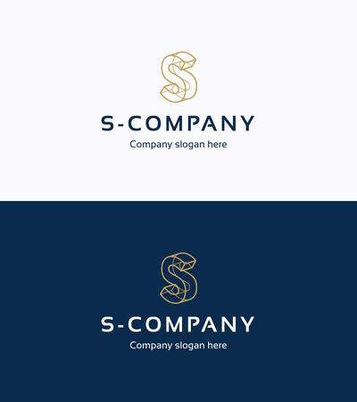 Frame 3D logo template with letter S