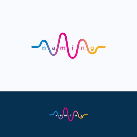Illustration pour Wave audio sound dance equalizer logo - image libre de droit