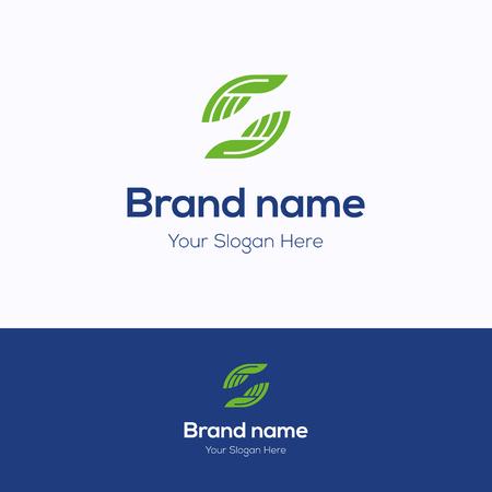 Illustration pour Brand name logo. Manual therapy s logotype. Palm care template - image libre de droit