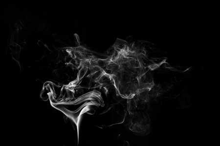 Photo for white smoke flame on a black background - Royalty Free Image