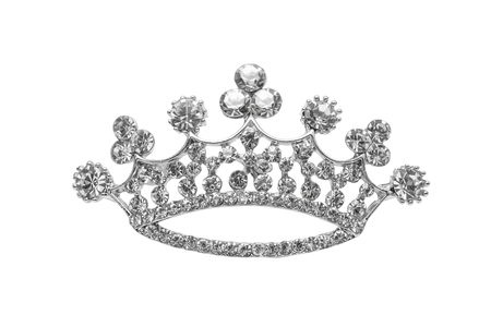 brooch crown isolated on white