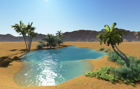 Oasis in the desert made in