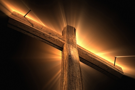 Photo for Wooden cross - Royalty Free Image