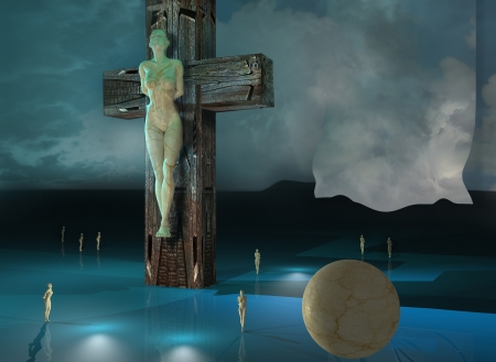 Figure of Crucifixion made in 3dmax