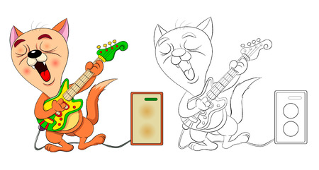 Top 25 Free Printable Guitar Coloring Pages Online | Coloring ... | 241x450
